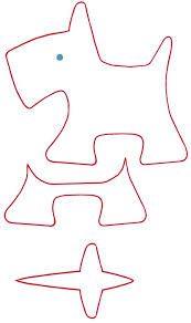 Картинки по запросу выкройки игрушек из фетра собака