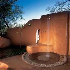Outdoor Showers in African Safari Lodges