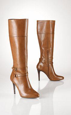 3761e42663 Strappy buckle boots by Ralph Lauren  wishlist Ralph Lauren Boots