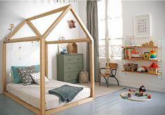 Chambre Montessori cabane (+ autres exemples chambres montessori sur l'article)
