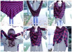 Scarf Tutorial - How to Style A Blanket Scarf Scarf Tutorial, Fall Lookbook, Nice Clothes, Blanket Scarf, Magnolia, Cool Outfits, Tunic, Collection, Style