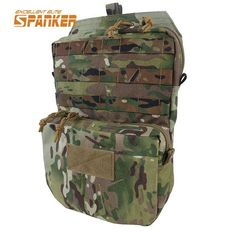 SPANKER Molle Hydration Pack Water Pack Water Bladder Bag Backpack Water Pouch Tactical Vest Accessory Bags Hunting Bag