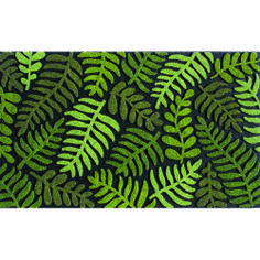 FERN --- Solid neutral colors to compliment any décor, these heavy weight molded rubber mats provide an amazing scraping surface that repels water for great traction in all weather. The unique Chroma Grit surface reflects light for a sparkling effect.