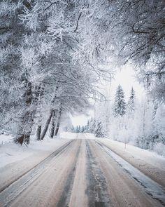 Winter road (Pohjois-Savo, Finland) by Lauri K. (@lateeek) on Instagram