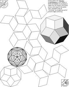 Sacred Geometry Design Sourcebook – bonus page – Kepler's Solid Fractal Geometry, Sacred Geometry Tattoo, Geometry Art, Geometric Designs, Geometric Shapes, Solid Geometry, Origami 3d, Platonic Solid, Cardboard Art