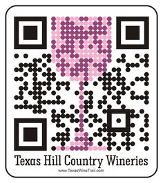I love clever QR codes; this is a cool QR Code for the Texas Wine Trail