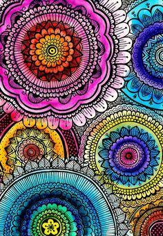 mandalas & doodling combined, nice! by Goyye.