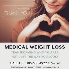 We are pleased to offer our clients medically supervised hCG weight loss therapy including weekly visits and a customized diet plan for each client. Don't lose weight just to gain it right back. Change your relationship with food forever to have weight loss that stays.   For more information or to schedule a free consultation call us at 305-608-4922  #DrAl #relaxspa #wellness #weightloss #health #diet #Miami