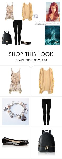 """""""See the line where the sky meets the sea. It calls me And no one knows, how far it goes (Morwenna - Daughter of Poseidon)"""" by ilovecats-886 ❤ liked on Polyvore featuring Emilio Pucci, Jens Pirate Booty, Noisy May, By Larin, Michael Kors and LC Lauren Conrad"""