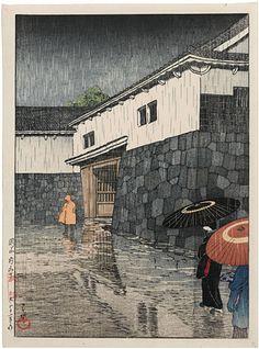 Kawase Hasui (1883-1957) Selection of Scenes of Japan: Uchiyamashita In Okayama