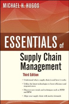 Bestseller Books Online Essentials of Supply Chain Management, Third Edition Michael H. Hugos $23.81  - http://www.ebooknetworking.net/books_detail-0470942185.html