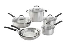 Calphalon 10 Piece Cookware Set, Medium, Stainless Steel -- Find out more details by clicking the image : Cookware Sets