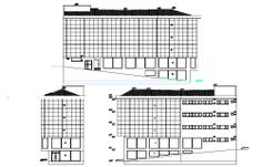 Corporate Building Architecture Drawing in AutoCAD dwg files. Architecture People, Building Architecture, 3d Architect, Office Plan, Building Structure, Present Day, Autocad, Urban Design, How To Plan