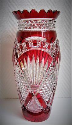 Val Saint Lambert Vase 'Andover' - +/- 1900.