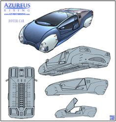 Azureus Rising - Hover Car by Hideyoshi on DeviantArt Cyberpunk Rpg, Cyberpunk Character, Hover Car, Arte Sci Fi, Flying Vehicles, Flying Car, Futuristic Design, Concept Cars, Transportation