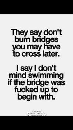 Fucked up bridges.