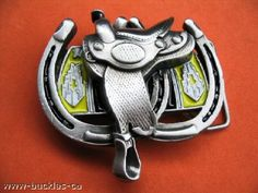 NEW HORSE SADDLE WESTERN COWBOY GIRL RODEO BELT BUCKLE