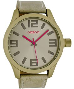 OOZOO Τimepieces Beige Leather Strap Μοντέλο: C6275 Η τιμή μας: 69€ http://www.oroloi.gr/product_info.php?products_id=36169