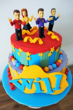 Will's Wiggles Cake First Wiggles Cake for me. SO hard to deal with humidity! Wiggles Birthday, Wiggles Party, 2 Birthday Cake, Twin Birthday, Birthday Party Themes, Birthday Ideas, Wiggles Cake, The Wiggles, Fondant Cakes