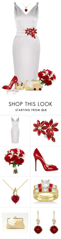 """""""eloping in 24hrs x2"""" by squiddesigns ❤ liked on Polyvore featuring Karen Millen, Susan Caplan Vintage, Jimmy Choo and Allurez"""