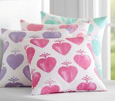 HEARTS~Watercolor Heart Pillows #pbkids