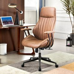 Executive Office Chairs, Home Office Chairs, Home Desk, Modern Office Chairs, Desk Chairs, Office Furniture, Desk Lamp, Office Interior Design, Office Interiors