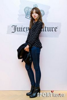 dot print blouse -이솜 Som Lee
