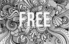 I love this- negative space zentangle word piece Sketchbook Drawings, Zentangle Drawings, Doodles Zentangles, Doodle Drawings, Sketches, Mandala Art, Mandala Drawing, Doodle Art Journals, Sketchbook Inspiration