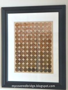 Here's a fun little project that I did over the weekend - Ombre Penny Art. I love copper so this project was right up my alley. I starte. 50th Birthday Presents, 50th Birthday Party, Mom Birthday, Birthday Gifts, Fifty Birthday, Birthday Ideas, Craft Gifts, Diy Gifts, Budget Crafts
