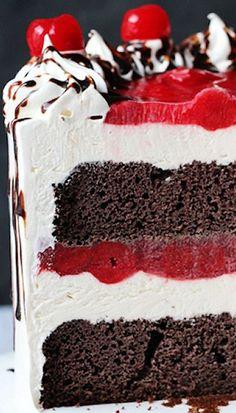 Chocolate cake filled with ice cream. Tastes like vintage ...