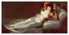 Francisco Goya / 30 Mart 1746 / Museo del Prado / Maya vestita #ChiardilunaMaterassi