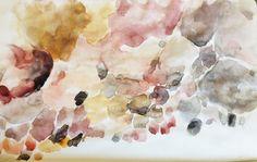 Llandudno rocks. Cape Town. Watercolour painting A5. This was fun, I took my watercolours to the beach :)