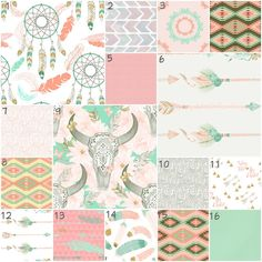 WHERE WAS THIS WHEN I WAS PREGNANT?!?!?!?!?!?! Boho Soul Modern Custom Crib Option Baby Bedding by modifiedtot
