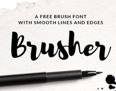 """Check out this @Behance project: """"Brusher Free Font"""" https://www.behance.net/gallery/30399859/Brusher-Free-Font"""