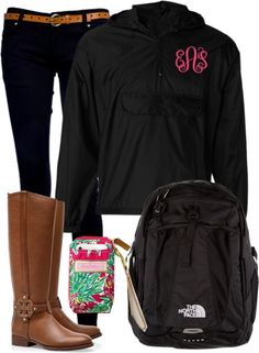 """""""Rainy OOTD"""" by classically-preppy ❤ liked on Polyvore"""