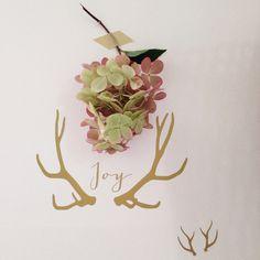 """Bois de cerf """"joy"""" - stickers muraux - Little paper  - Fait Maison"""