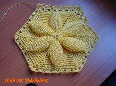 Mary Dolls Hexagon Motif - Tutorial with pics for free Crochet Potholders, Crochet Blocks, Crochet Squares, Crochet Afghans, Crochet Granny, Crochet Motif, Crochet Doilies, Crochet Yarn, Crochet Girls