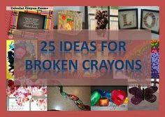 25 Ideas for Broken Crayons