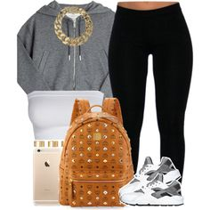 I love gray ☑️ by livelifefreelyy on Polyvore featuring Golden Goose, MCM, AllSaints, ASOS and NIKE