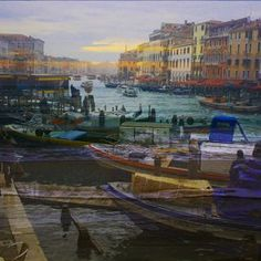 colorful venice with beautiful canal and boats Qr Code Generator, Collages, Venice, Boats, Colorful, Painting, Beautiful, Collage, Collagen