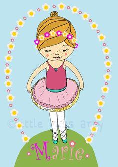 kleine ballerina! individualisiertes bild! #MomPreneursAdventsbasar
