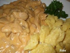 bakonyi sertéstokány Pollo Chicken, Hungarian Recipes, Pork Dishes, Meat Recipes, Macaroni And Cheese, Food Porn, Appetizers, Yummy Food, Food And Drink