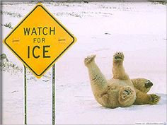 Do you know how to walk on the ice without falling down?