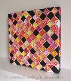 Mosaic Home Decor #vintagemaya #mosaic #handcraft #paper patchwork #painted canvas