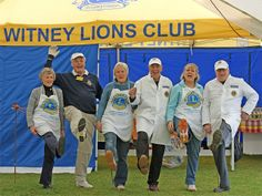 Witney Lions Club pig roast team warming up for the annual Witney Carnival
