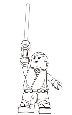 lego star wars luke skywalker coloring page from lego star wars category select from 21360