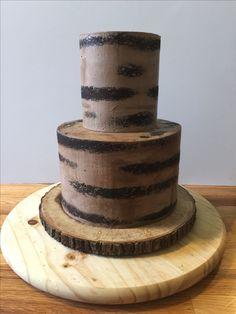 Semi Naked Chocolate Wedding Cake