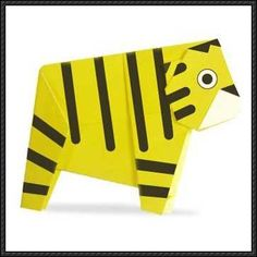 Cute Tiger Origami for Kids