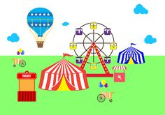 Free Country Fair Vector Country Fair, Amusement Park, Vector Art, Clip Art, Projects, Image, Painting, Free, Log Projects