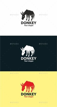 Buy Donkey by on GraphicRiver. DONKEY Professional logo template for all creative business company. The set includes: vector source files (AI and, E. Burritos, Donkey Logo, Logo Animal, Fantasy Logo, Logos, Vintage Logo Design, Graphic Design, Business Company, Geometric Logo